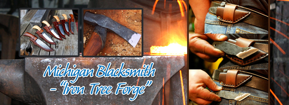 Handmade Michigan Blacksmith - Iron Tree Forge